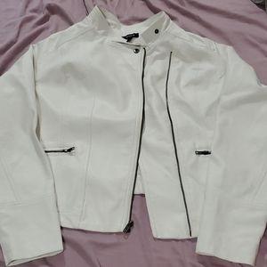 Torrid White (faux) leather jacket